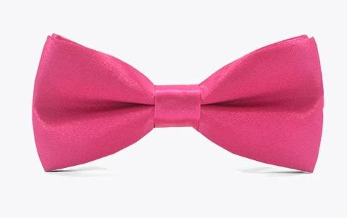 Pink Hot Pink Fuschia Satin Childrens Kids Child Bow Tie for girls and boys. Wedding, church or special occasion attire.