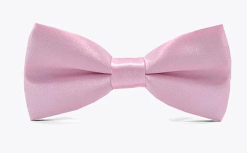 Pink Satin Childrens Kids Child Bow Tie for girls and boys. Wedding, church or special occasion attire.