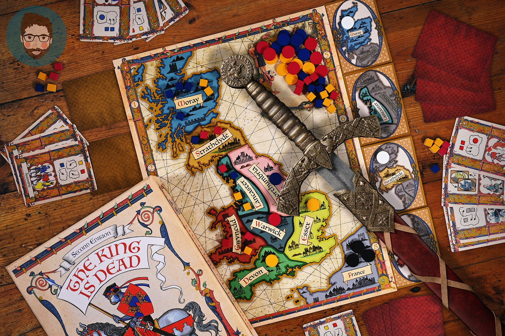 The King is Dead Board Game Osprey Games