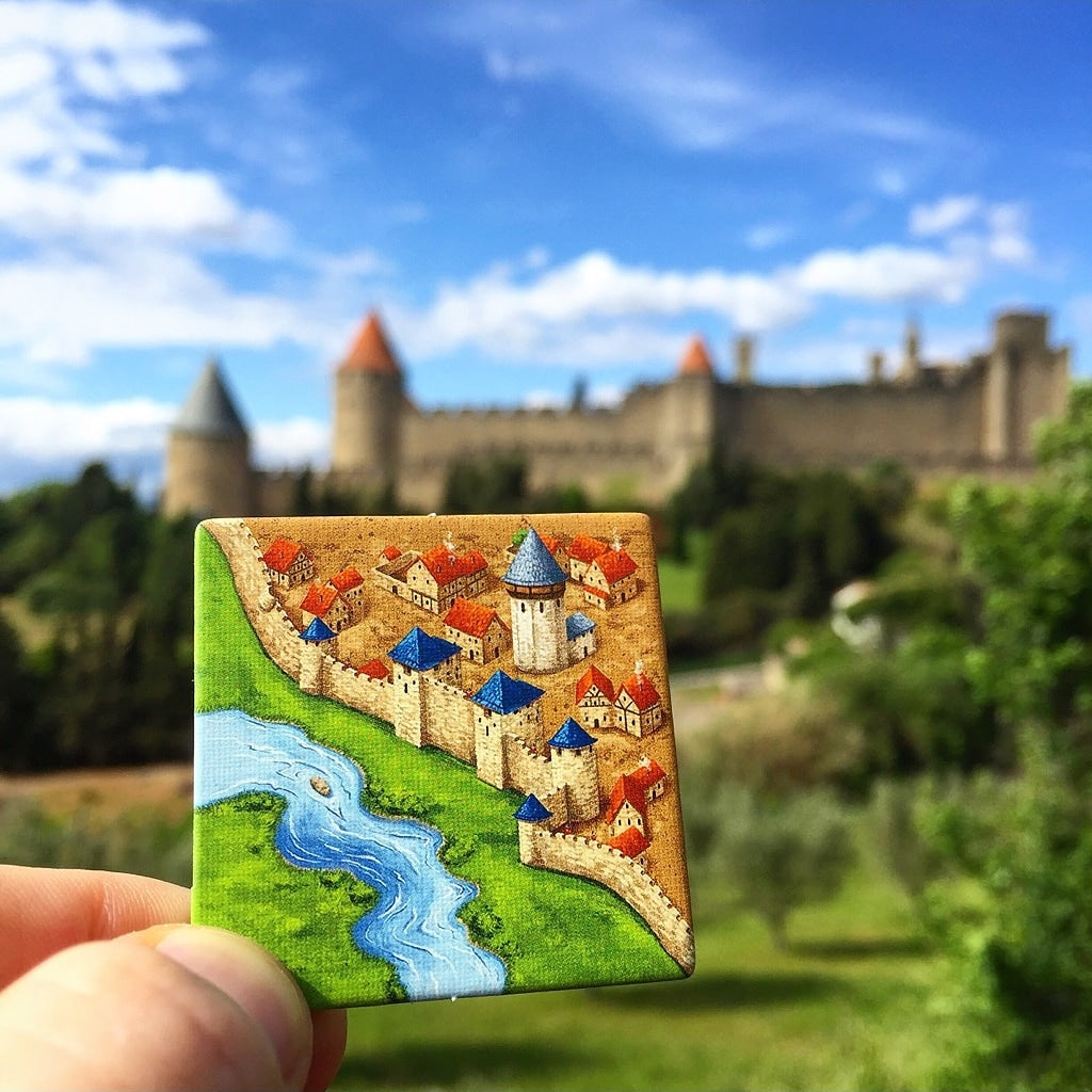 Carcassonne Board Game Medieval Town