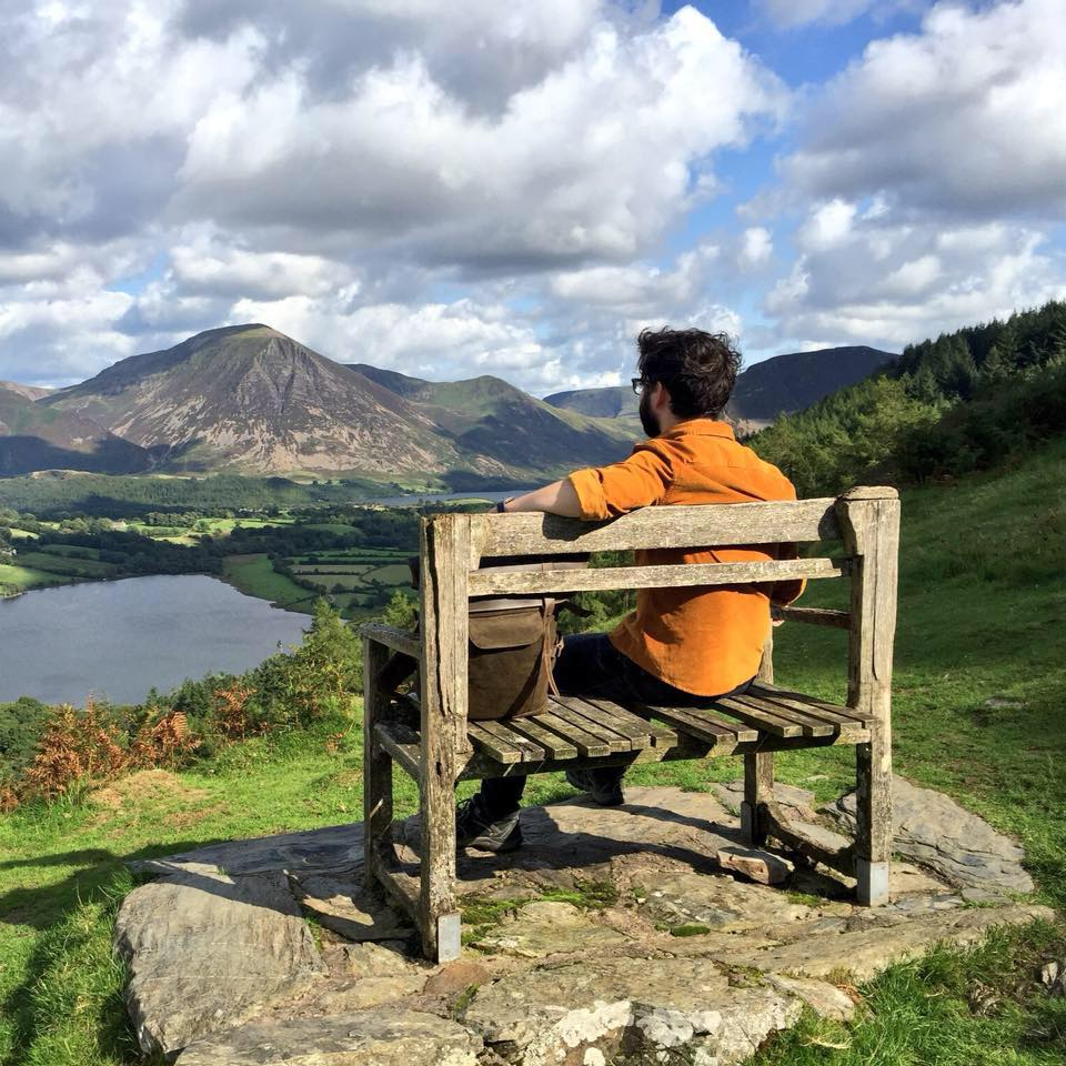 Ross Connell overlooking Loweswater in Lake District