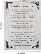 Load image into Gallery viewer, Dalai Lama Quotes ~ Wooden ~ A Precious Human Life ~ Inspirational Message Wall Decor - DharmaObjects