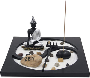 Buddha Zen Garden Tea Light Candle Holder Set (Yin Yang Buddha) - DharmaObjects