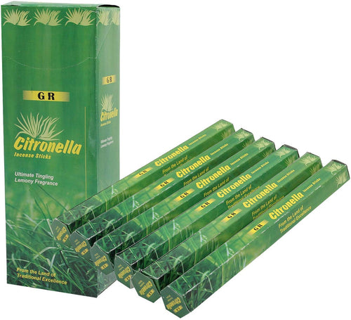 GR Citronella Incense 6 Box 120 Incense Sticks - DharmaObjects