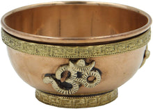 Load image into Gallery viewer, Copper Offering Bowl Incense Burner Holder (3 Inches, Om) - DharmaObjects