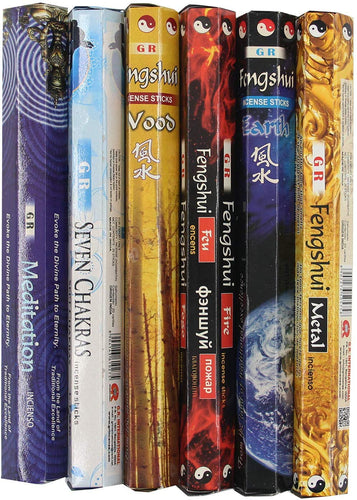 Variety Pack of 6 Box 120 Incense Sticks - GR International (Variety Pack 3) - DharmaObjects