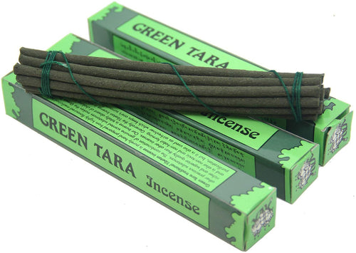 3 Box Tibetan Green Tara Incense Sticks (Small 42 Sticks) - DharmaObjects
