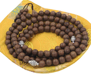 Tibetan Buddhist Meditation 108 Beads Nyatoh Wood MALA for Compassion (Nyatohwood) - DharmaObjects