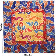 Load image into Gallery viewer, Tibetan Cloud Silk Brocade Table Runner/Shrine Cover/Altar Cloth/Table Cover (34 X 34 Inches) - DharmaObjects