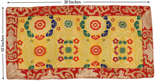 Load image into Gallery viewer, Tibetan Buddhist Silk Brocade Table Runner/Shrine Cover/Altar Cloth/Table Cover (20 X 10 Inches) - DharmaObjects