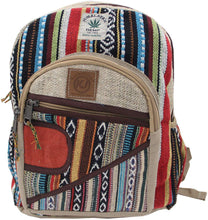 Load image into Gallery viewer, Handmade Natural Hemp Nepal Backpack Purse for Women & Girls Small Lightweight Daypack (DAYPACK4) - DharmaObjects