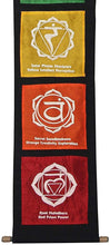 Load image into Gallery viewer, Multi Cotton 7 Chakras Signs Banner Wall Decor Wall Hanging (Chakra 2) - DharmaObjects