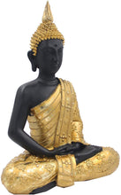Load image into Gallery viewer, Meditating Buddha Statue Zen Mindfulness Peace Harmony (Gold, 11 Inches) - DharmaObjects