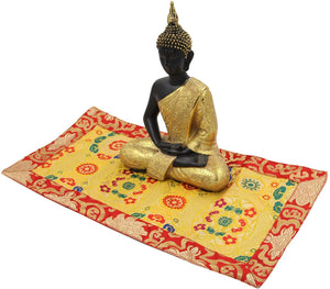 Tibetan Buddhist Silk Brocade Table Runner/Shrine Cover/Altar Cloth/Table Cover (20 X 10 Inches) - DharmaObjects