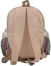 Load image into Gallery viewer, Natural Handmade Large Multi Pocket Hemp Nepal Backpack - DharmaObjects