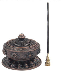 Large Charcoal Incense Burner 3 Inches Tall - DharmaObjects