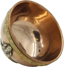 Load image into Gallery viewer, Copper Offering Bowl Incense Burner Holder (3 Inches, Ganesh) - DharmaObjects