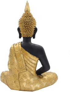 Meditating Buddha Statue Zen Mindfulness Peace Harmony (Gold, 11 Inches) - DharmaObjects