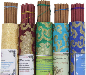 5 Packs Variety Tibetan Spiritual and Medicinal Incense Sticks - DharmaObjects