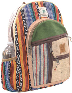 KayJayStyles Natural Handmade Large Multi Pocket Hemp Nepal Backpack (BKPK-6)