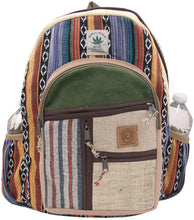 Load image into Gallery viewer, KayJayStyles Natural Handmade Large Multi Pocket Hemp Nepal Backpack (BKPK-6)