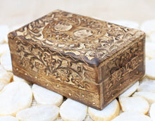 Load image into Gallery viewer, Tree Of Life Hand Carved Jewelry Storage Keepsake Wooden Box