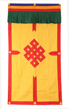 Load image into Gallery viewer, Tibetan Buddhist Endless Knot (Pata) Meditation Shrine Room Door Curtain wall hanging