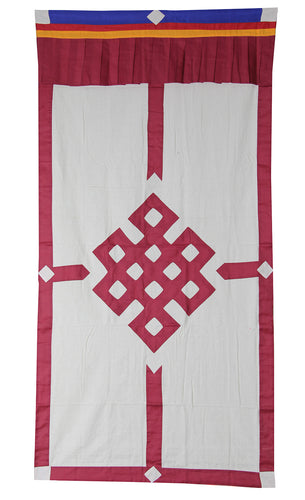 Tibetan Buddhist Endless Knot (Pata) Meditation Shrine Room Door Curtain wall hanging