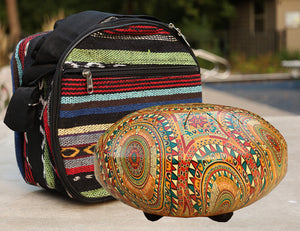 Steel Tongue Drum 8 Notes 10 Inches Tank Drum, Handpan Drum, Chakra Drum, Percussion with Mallets and Travel Bag