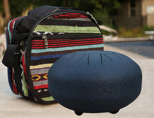 Steel Tongue Drum 11 Notes 10 Inches Tank Drum, Handpan Drum, Chakra Drum, Percussion with Padded Travel Bag and Mallets