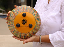 Load image into Gallery viewer, Steel Tongue Drum 8 Notes 10 Inches Tank Drum, Handpan Drum, Chakra Drum, Percussion with Mallets and Travel Bag