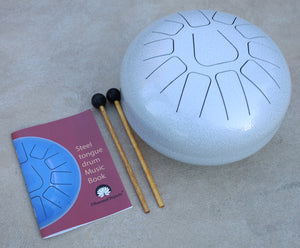 Steel Tongue Drum 11 Notes 12 Inches Tank Drum, Handpan Drum, Chakra Drum, Percussion with Padded Travel Bag, Mallets and More