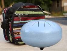 Load image into Gallery viewer, Steel Tongue Drum 11 Notes 12 Inches Tank Drum, Handpan Drum, Chakra Drum, Percussion with Padded Travel Bag, Mallets and More
