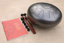Load image into Gallery viewer, Steel Tongue Drum 11 Notes 10 Inches Tank Drum, Handpan Drum, Chakra Drum, Percussion with Padded Travel Bag, Mallets, Book and More