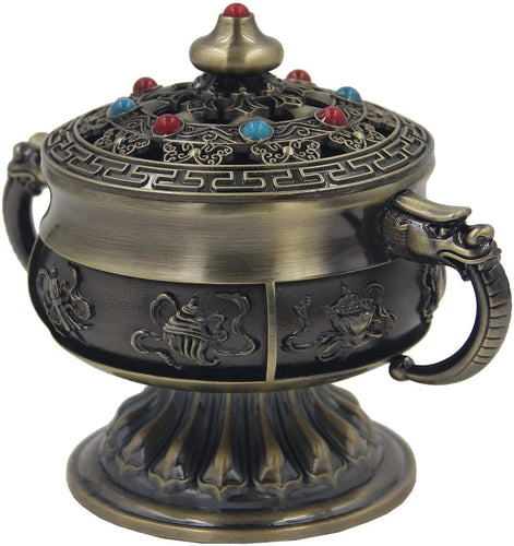 Large Heavy Duty Multi Purpose Charcoal Incense Burner 4 Inches Tall