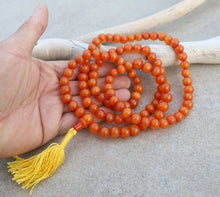 Load image into Gallery viewer, Tibetan 108 Beads Faux Amber Meditation Mala / Prayer Beads / Rosary