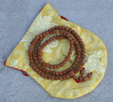 Load image into Gallery viewer, Natural Rudraksha Mala/Rosary 108 Beads/Free Pouch (Rudraksha)