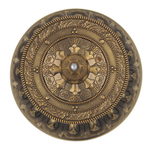 Prayer Wheel Premium Quality Solid Brass Heavy Duty Table Top (Large) - DharmaObjects