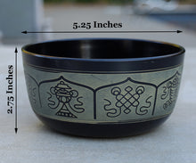 Load image into Gallery viewer, Tibetan Singing Bowl Complete Set Eight Lucky Symbol With Mallet and Cushion ~ For Meditation, Chakra Healing, Prayer, Yoga