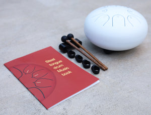 Steel Tongue Drum 8 Notes 6 Inches Tank Drum, Handpan Drum, Chakra Drum, Percussion with Pouch, Book, Mallets, Finger Picks