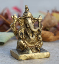 Load image into Gallery viewer, Ganesh Ganesha Statue Hindu Elephant God of Success Solid Brass