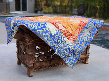 Load image into Gallery viewer, Tibetan Buddhist Lotus Silk Brocade Table Runner/Shrine Cover/Altar Cloth/Table Cover