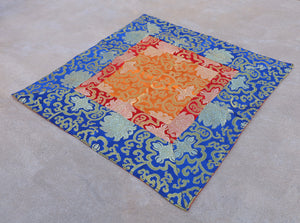 Tibetan Buddhist Lotus Silk Brocade Table Runner/Shrine Cover/Altar Cloth/Table Cover