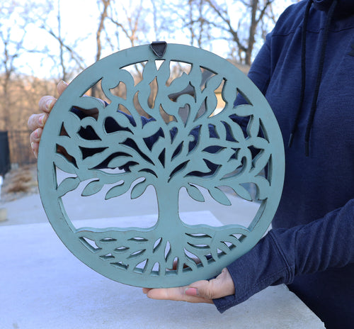 Handcrafted Wooden Tree of Life Wall Decor Hanging Art