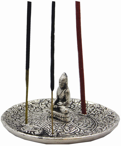 Tibetan Buddha Incense Burner Holder - DharmaObjects