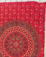 "Load image into Gallery viewer, Elephants Mandala Tapestry Wall Decor Hanging 80""X50"" Red"