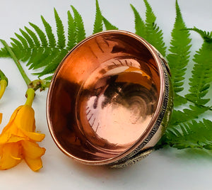 Copper Bowl Smudge, Charcoal, Incense Burner, Ritual Altar Bowl, Offering Bowl.