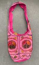 Load image into Gallery viewer, Hobo Hippie Bohemian Sling Crossbody Peace Sign Purse Bag