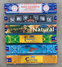 Load image into Gallery viewer, Satya Natural - Set of 6 - Nag Champa , Natural, Astha, Chandan, Super hit and Patchouli 15 Grams