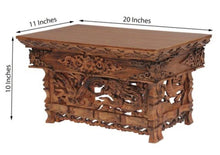 Load image into Gallery viewer, Solid Wood Hand Carved Tibetan Buddhist Prayer Shrine Altar Meditation Table